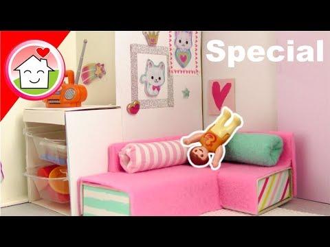 Playmobil Kinderzimmer für Anna - Pimp my PLAYMOBIL Puppenhaus Möbel DIY - Familie Hauser