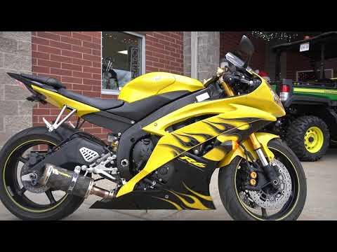 2008 Yamaha YZFR6 in Mauston, Wisconsin - Video 1