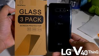 Mr Shield LG V40 ThinQ Tempered Glass Installation.3 Pack For $6!