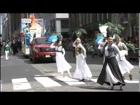 نماد همدان در رژه ایرانیان نیویورک
