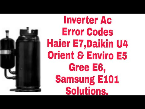How to error code outdoor unit Daikin inverter AC - смотреть онлайн