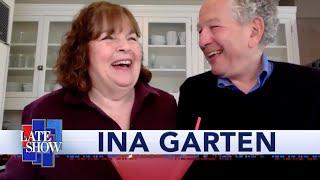 Ina Garten Makes Her Signature Quarantine Cocktail With Stephen Colbert