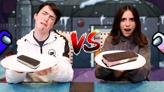AMONG US FOOD vs REAL FOOD!! (Astronaut Food Challenge)
