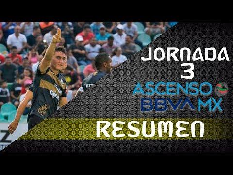 RESUMEN JORNADA 3 ASCENSO MX