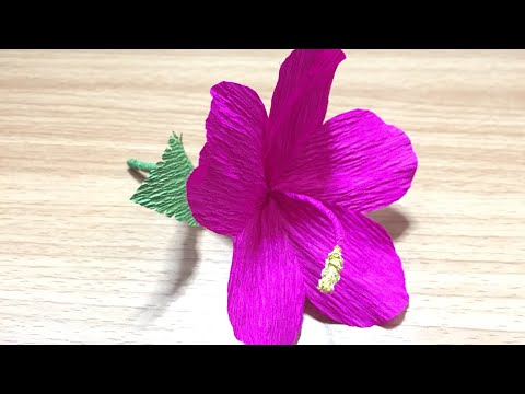 Hibiscus Flower Out Of Crepe Paper Flowers Healthy