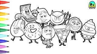 The Emoji Movie Coloring Pages I Fun Colouring Videos For Kids