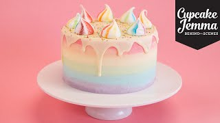 Behind the Scenes Making a Unicorn Cake | Cupcake Jemma