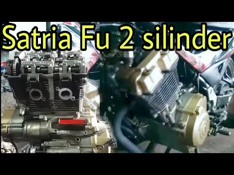 Suara mesin SATRIA FU 2 silinder 300cc  bikinan OM2S Tanggerang | SCREAMER engine