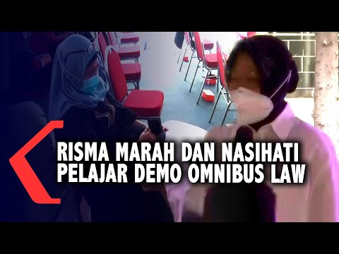 risma marah dan nasihati pelajar yang ikut demo omnibus law