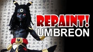 Repaint! Pokemon Umbreon Custom OOAK Male Doll