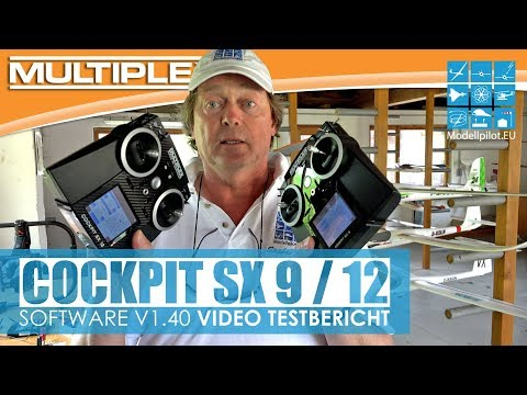 COCKPIT SX 9/12 UPDATE V1.40 TESTBERICHT NEW SOFTWARE MULTIPLEX Lehrer-Schüler-System [4K]