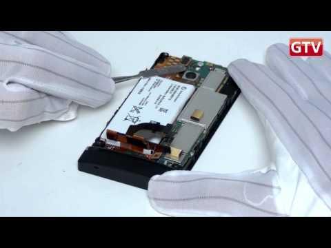 comment demonter batterie xperia p