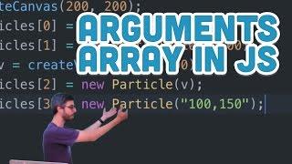 9.17: Arguments Array in JavaScript - p5.js Tutorial