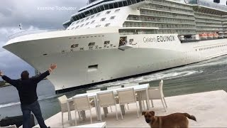 Cruise ship's frightening close call with a Ft. Lauderdale home captured on video