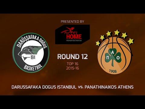 Highlights: Top 16, Round 12, Darussafaka Dogus Istanbul 84-86 Panathinaikos Athens