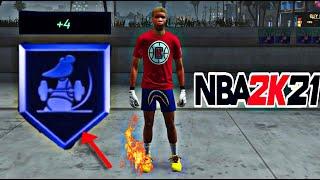 HOW TO UNLOCK GYM RAT BADGE BEFORE SUPERSTAR 2 - NBA 2K21 GYM RAT BADGE TUTORIAL