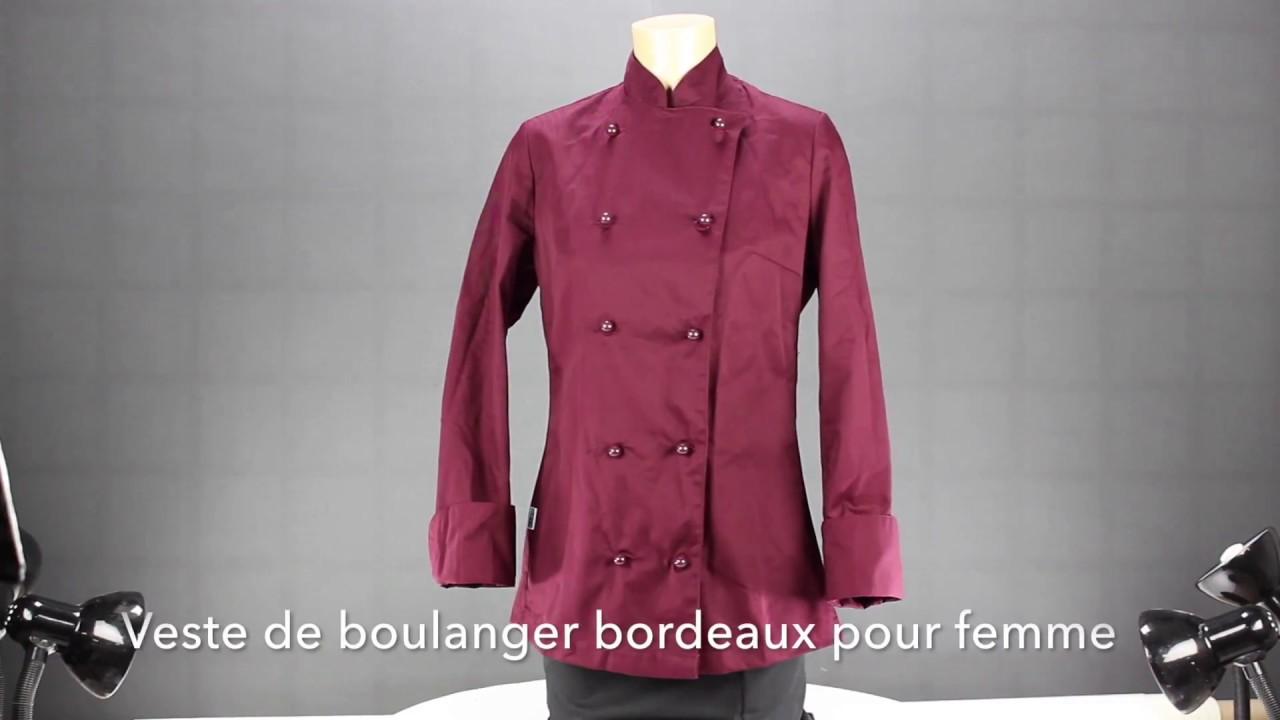 66d0167431df Pour Bordeaux Femme Boulanger Patissier Veste De qnx7Fqt