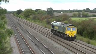 preview picture of video 'Midland Mainline Near Cossington 26.09.2012'