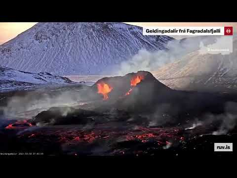 Time Lapse of Iceland's Volcano Eruption