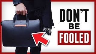 5 Ways To Spot Quality Leather Briefcases | Briefcase Buyers Guide | RMRS