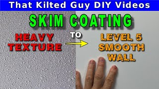 🟢Smoothing Out A ROUGH UGLY Wall by Skim Coating it - LEVEL 5 Babys Butt Smooth