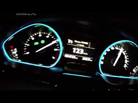 Peugeot 208 1,6 THP 156 - acceleration 0-210 km/h + Vmax test