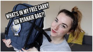 Pack With Me: What's in my Ryanair FREE Hand Luggage?