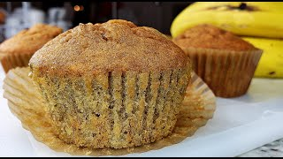 BANANA BREAD | Soft Banana Bread Muffins | Banana Muffins Recipe