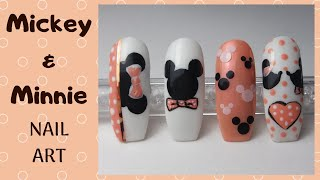 How To Create Mickey & Minnie Mouse Desings - Disney -  Nail Art Tutorial