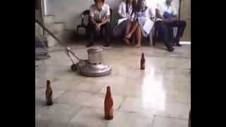 practice how to use floor polisher