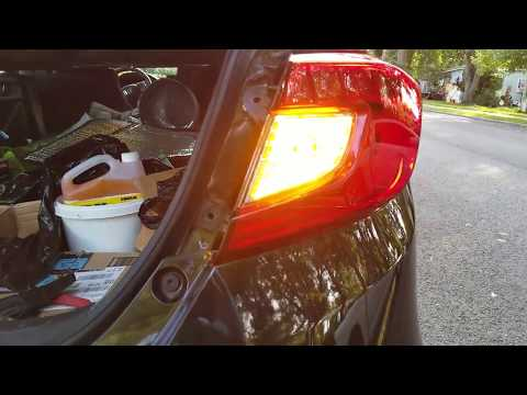 2018 Honda Accord EX rear turn signal housing removal and light bulb change to LED 7507 PART 1