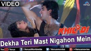 "Video thumbnail of ""Dekha Teri Mast Nigahon Mein (Khiladi)"""