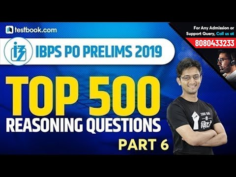 Top 500 Reasoning Questions for IBPS PO Prelims   Part 6   Crack IBPS PO   Reasoning by Sachin Sir