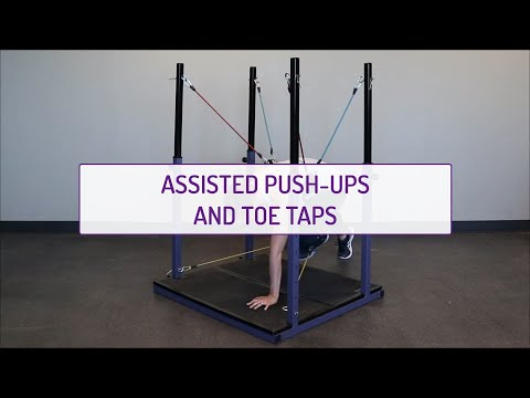 Assisted Push-Ups and Toe Taps