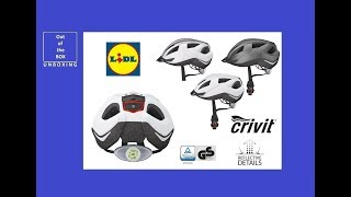 Crivit Bicycle helmet SP-91 / LED Rear Light SP-06 UNBOXING (Lidl Women's Men's Cycling Helmet)