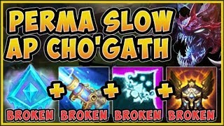 THERE'S NO DODGING THESE SLOWS! PERMA FREEZE CHO'GATH IS 100% UNFAIR! - League of Legends Gameplay