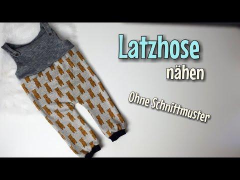 Latzhose - Nähanleitung OHNE Schnittmuster - Für Anfänger - Nähtinchen