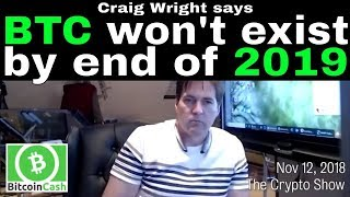 Craig Wright says he has an exploit to take down Bitcoin (BTC) by end of 2019. Does he? Or all talk?