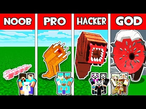 Minecraft - NOOB vs PRO vs HACKER vs GOD : FAMILY GIANT WORM EVOLUTION in Minecraft Animation
