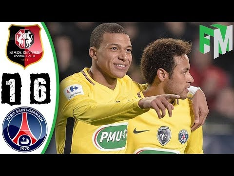 Rennes vs PSG 1 6   Highlights & Goals   07 January 2018