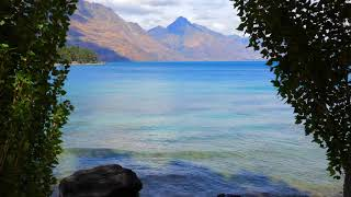 Gentle WAVES at Mountain Lake 3 Hours, Wave Sounds for Sleep, Relaxing, Study, Meditation, ASMR