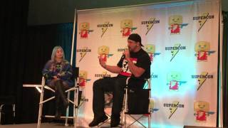 Joey Fatone at Paradise City Comic Con explaining his fav moments during *NSYNC