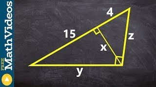 Using The Geometric Mean To Determine The Missing Parts Of A Triangle