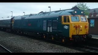 preview picture of video '(HD) 50007 'Hercules' Opens Up at Walsall - Barrier Coach Move 5z47 28/05/2014'
