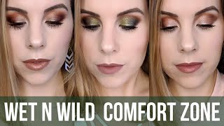 3 LOOKS 1 PALETTE // Wet n Wild Comfort Zone Palette Tutorial