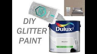DIY GLITTER WALLS / Room Tour Part 2