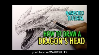 How To Draw A Dragons Head: Narrated Tutorial