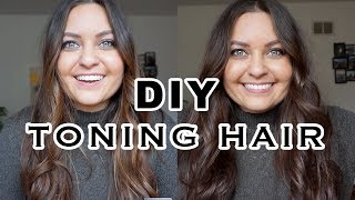 How To Tone Brunette Hair At Home/ How I'm Growing My Hair Out    ELA BOBAK