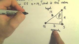 Trigonometric Functions To Find Unknown Sides Of Right Triangles, Ex 3