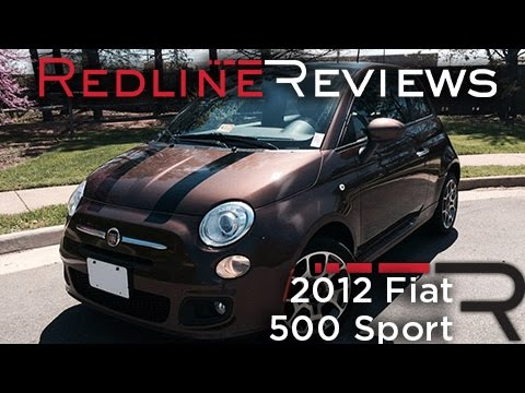 2012 Fiat 500 Sport Review, Walkaround, Exhaust, & Test Drive
